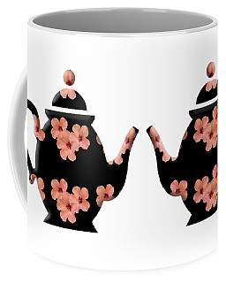 Hibiscus Pattern Teapot Coffee Mug