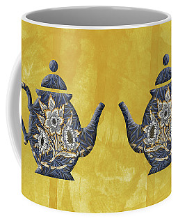 Tulips And Willow Pattern Teapot Coffee Mug