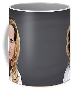 Celebrity Sunday - Gillian Anderson Coffee Mug by Rob Snow