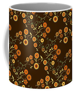 Autumn Flower Explosion Coffee Mug by Methune Hively