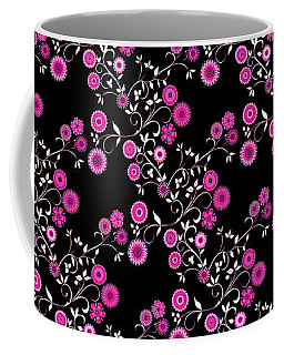 Pink Floral Explosion Coffee Mug by Methune Hively