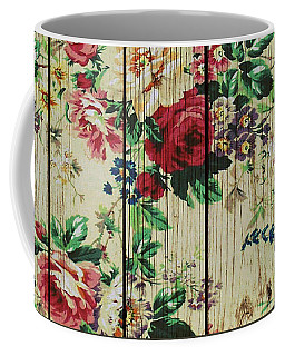 Flowers On Wood 01 Coffee Mug