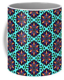 Sunburst Star Flower Pattern Coffee Mug