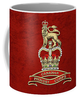 Canadian Provost Corps - C Pro C Badge Over Red Velvet Coffee Mug by Serge Averbukh