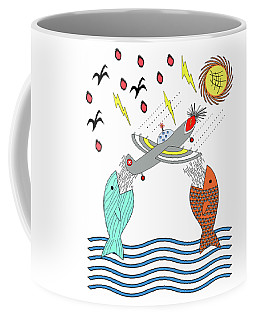 Fish Food Coffee Mug by Methune Hively
