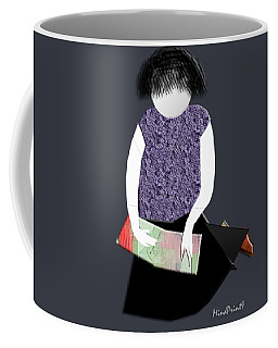 Her Picture Book Coffee Mug by Asok Mukhopadhyay