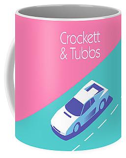 Miami Vice Crockett Tubbs - Magenta Coffee Mug