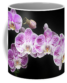 Purple On White On Black Coffee Mug
