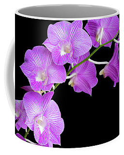 Vivid Purple Orchids Coffee Mug