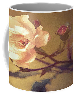 The Pink Flower - Oil Painting Coffee Mug
