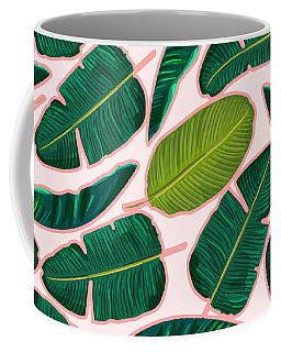 Banana Leaf Blush Coffee Mug