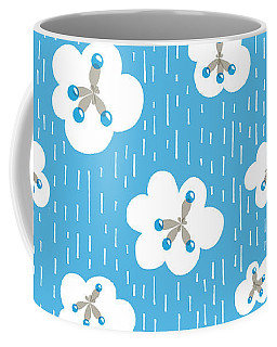 Clouds And Methane Molecules Pattern Coffee Mug
