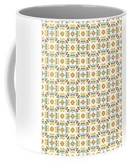 Folk Art Inspired Chrysanthemums Yellow And Orange Coffee Mug