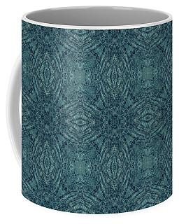 Indigo Diamond Cross Pattern 24in Coffee Mug