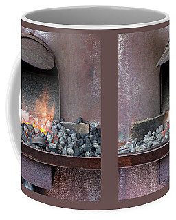 Coffee Mug featuring the photograph The Forge by Linda Lees