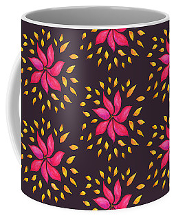 Abstract Whimsical Watercolor Pink Flower Coffee Mug