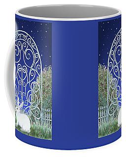Bunny, Gate And Moon Coffee Mug