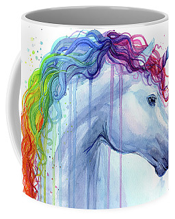 Rainbow Unicorn Watercolor Coffee Mug