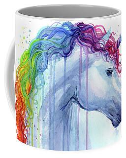 Rainbow Unicorn Watercolor Coffee Mug