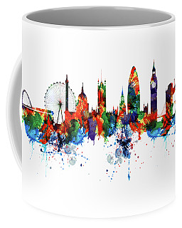London Watercolor Skyline Silhouette Coffee Mug