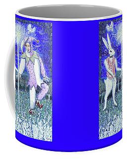 Wand With Magician And Jester Coffee Mug