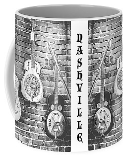 Vintage Guitar Trio In Black And White Coffee Mug