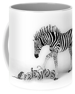 Coffee Mug featuring the digital art Friends by Jutta Maria Pusl