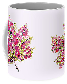 Colorful Watercolor Autumn Leaf Coffee Mug