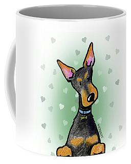 Dobie With Love Coffee Mug