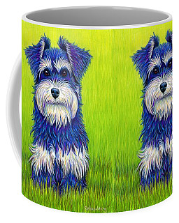 Colorful Miniature Schnauzer Dog Coffee Mug