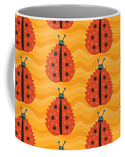 Orange Ladybug Masked As Autumn Leaf Coffee Mug
