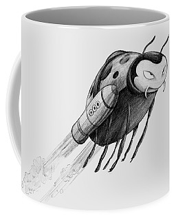 Lady Rocket Bug Coffee Mug