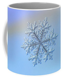 Coffee Mug featuring the photograph Real Snowflake - Hyperion by Alexey Kljatov
