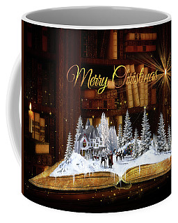 Merry Christmas Scene Coffee Mug