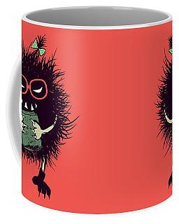 Geek Evil Bug Character Loves Reading Coffee Mug