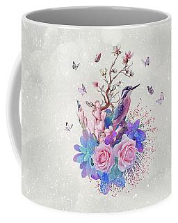 Floral Alcedo Atthis Coffee Mug