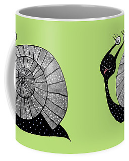 Cartoon Snail With Spiral Eyes Coffee Mug