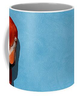 Curves, A Head - A Flamingo Portrait Coffee Mug