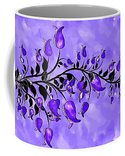 Purple Abstract Flowers Coffee Mug