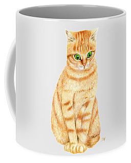 A Ginger Tabby Cat Coffee Mug