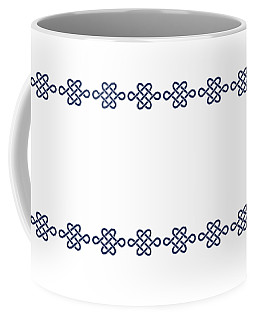 Treasure Knot In Blue Coffee Mug