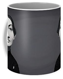 Coffee Mug featuring the digital art Celebrity Sunday - Maria Callas by Rob Snow