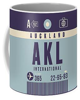 Retro Airline Luggage Tag - Akl Auckland Coffee Mug