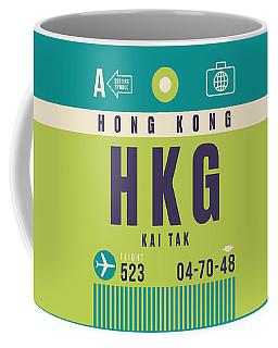 Retro Airline Luggage Tag - Hkg Hong Kong Kai Tak Coffee Mug