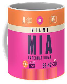 Retro Airline Luggage Tag - Mia Miami Coffee Mug