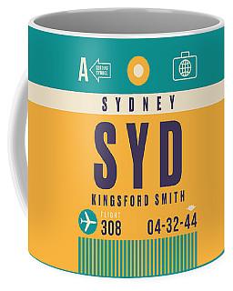 Retro Airline Luggage Tag - Syd Sydney Kingsford Smith Coffee Mug