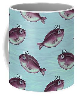 Funny Fish With Fancy Eyelashes Coffee Mug