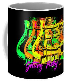 Coffee Mug featuring the photograph Triple Pickguards by Guitar Wacky