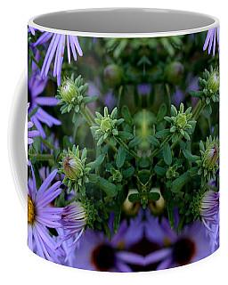 Hardy Blue Aster Flowers Coffee Mug