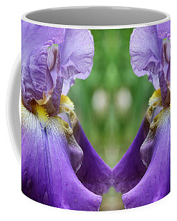 Purple Iris Flower Coffee Mug
